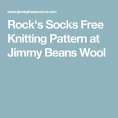 Rock's Socks Free Knitting Pattern at Jimmy Beans Wool