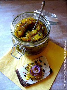 Mango Chutney (Sugar Mangoes) is a composition of ripe mangoes, sugar, spices and vinegar cooked on low heat to form a thick sauce like text. Curry Recipes, Veggie Recipes, Indian Food Recipes, Whole Food Recipes, Vegetarian Recipes, Cooking Recipes, Thai Cooking, Thai Recipes, Trini Food