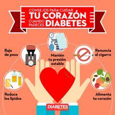 Un mal control de la Diabetes puede dañar tu corazón.  #diabetes