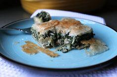 Spanikopita (Greek Spinach Pie) This was AMAZING! Will definitely make this again.