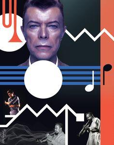 LOOKING FOR LESTER - Album: Black Tie White Noise, 1993. David Bowie Art by Maia valenzuela