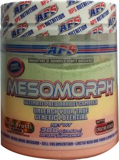 Speaking of awesome pre workout supplements... APS Nutrition has a new flavor of APS Mesomorph: TUTTI FRUTTI! https://blog.priceplow.com/supplement-news/aps-mesomorph  Remember that gum? This is from the first production run, and will be shipping to stores soon. Get signed up on the link above to be notified when the first store has it in stock!! #APSMesomorph #Mesomorph #TuttiFrutti