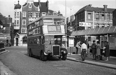 Old double decker number 11 bus at Butterwick Hammersmith 1964