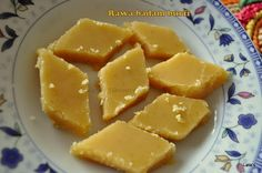 Semolina-almond sweet, normally made for Diwali, the festival of lights