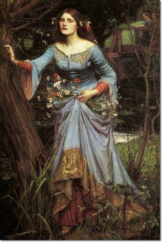 John William Waterhouse - Ophelia 1910 Painting