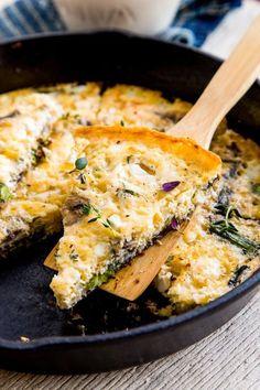Recipe: Mushroom-Asparagus Frittata — Vegetarian Weeknight Dinner Recipes from The Kitchn