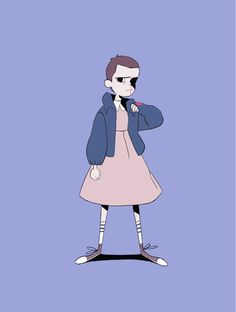 """benjaminwarnitz: """" A little animation of Eleven, based on an original drawing by my friend Julia ! """" THIS GUY. THIS MOTHERHUGGER."""