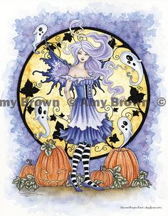 """Amy Brown: Fairy Art - The Official Gallery - Halloween """"Haunted Pumpkin Patch"""""""