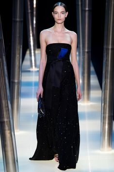 Armani Privé Spring 2015 Couture Fashion Show - Mina Cvetkovic (Women)