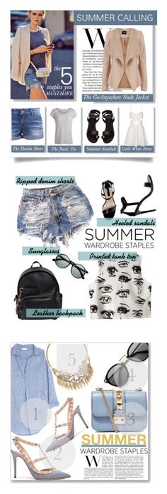 """""""Winners for Top 5 Summer Staples"""" by polyvore ❤ liked on Polyvore featuring Pieces, Oasis, H&M, Topshop, Dorothy Perkins, Chicnova Fashion, Dsquared2, summerstaples, CP Shades and Valentino"""