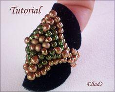 Tutorial Diamond-Shaped Ring - Bead pattern