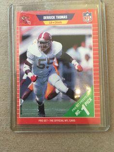 1989 Pro Set Football Derrick Thomas Rookie Card 498 Kansas City Chiefs | eBay