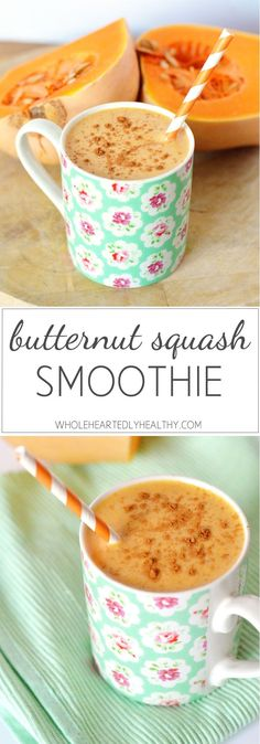 Delicious healthy butternut squash smoothie recipe!