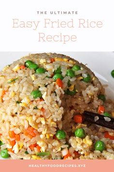 Easy and Delicious Fried Rice fry rice recipe chinese food Easy and Delicious Fried Rice Fried Rice Recipe Egg, Fried Rice Recipe Indian, Chicken Fried Rice Recipe Easy, Chicken Rice Recipes, Easy Rice Recipes, Rice Meals, Japanese Chicken Fried Rice Recipe, Mexican Fried Rice, Quick Recipes