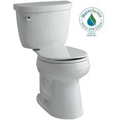 KOHLER Cimarron Comfort Height 2-piece 1.28 GPF Round Toilet with AquaPiston Flushing Technology in Ice Grey - K-3887-95 - The Home Depot