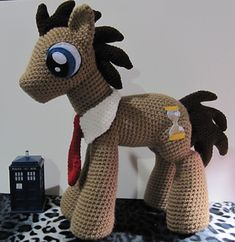 Doctor Whooves 10th pattern from The Nerdy Knitter. I LOVE THIS!