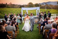 Sarah and Brian could not hide there excitement after saying there I Do's #santabarbaraevents #wineryweddings #true love Amazing photos taken by http://wordenphotography.pass.us/ www.cateringconnection.com