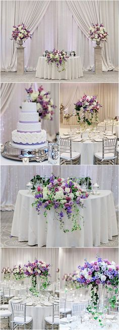 Florida Wedding in Shades of Purple Featured Photographer: Kristen Weaver Photography; Wedding Table Centerpieces, Reception Decorations, Flower Decorations, Reception Ideas, Wedding Reception, Mod Wedding, Purple Wedding, Dream Wedding, Wedding Color Schemes