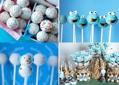 cookie monster cakepops