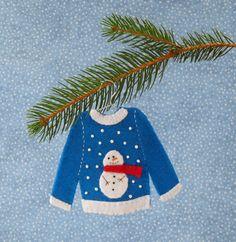 Snowman Ugly Christmas Sweater Felt Christmas