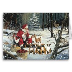 Boxer Christmas Holiday cards are 8 1/2