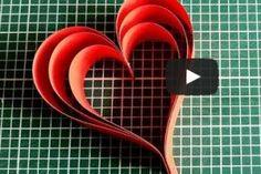 Výrobky z papíru - Srdce z proužků Quilling, Cookie Cutters, Creative Design, Origami, Jar, Crafty, Crochet, Decorating, Fitness