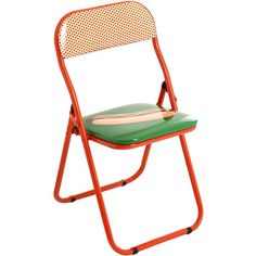 Studio Job For Seletti Home Hotdog Folding Chair (2,740 THB) ❤ liked on Polyvore featuring home, furniture, chairs, multicolor, multi coloured chairs, multi color chair, colourful chairs, multicolor chair and faux chair