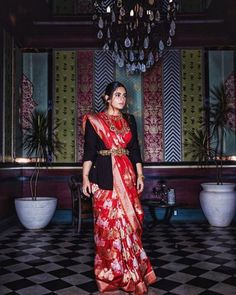 Shopzters | Time to follow the 'Shirt Jacket' Trend! Winter Wedding Outfits, Indian Wedding Outfits, Indian Outfits, Winter Weddings, Indian Attire, Bridal Outfits, Wedding Wear, Saree Draping Styles, Saree Styles