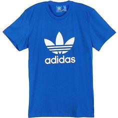 Adidas Originals Trefoil Tee Mens AB7531 Blue White S/S Logo T-Shirt Size 2XL