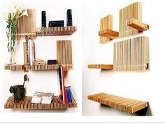 DIY : MOST CREATIVE BOOKSHELVES |