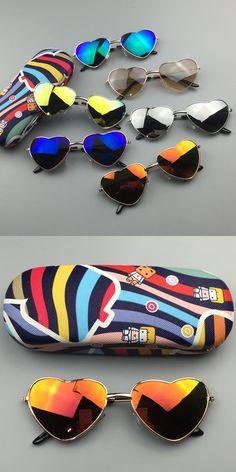 BFORTUNE 2016 Metal Frame Heart Boys Girls Kids Sunglasses Brand Designer UV400 Vintage Children Sun Glasses Oculos De Sol Gafas
