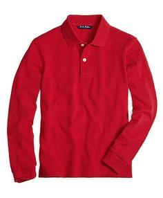 Long-Sleeve Polo Shirt - Brooks Brothers