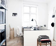 love this compact office!