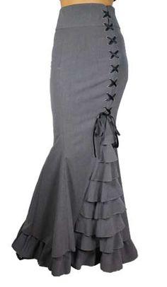 Gray Ruffle Skirt <3