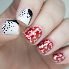 Love dogs? You'll love this nail art tutorial, one of our favorites from Nailsaurus #nailart #nails