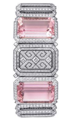 Cartier Urban secret watch with kunzites and diamonds.