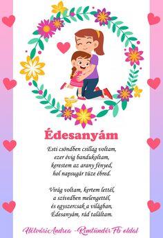 Anya, szeretlek! – Modern Iskola Mother And Father, Grandma Gifts, Christmas Deco, Creative Kids, Fathers Day, Kindergarten, Handmade Gifts, Spring, How To Make