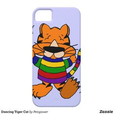 Dancing Tiger Cat iPhone 5/5S Covers #cats #funny #iphone5 #case #animals And www.zazzle.com/petspower* #dancing