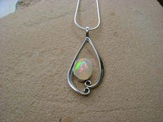 Natural Fire Opal Pendant