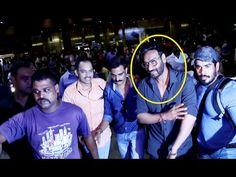 OMG ! Ajay Devgan BADLY MOBBED with fans at Mumbai airport.