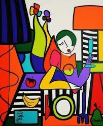 Virgínia Benedicto Virginia, Mosaic Portrait, Multimedia Arts, Cubism Art, Jazz Art, Buddha Painting, Quirky Art, Large Canvas Wall Art, Modern Art Paintings