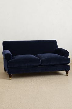 Shopping Inspiration: Indulge In Moody Winter Blues. Navy Blue Velvet SofaBlue  SofasBlue Velvet Sofa Living RoomNavy ...
