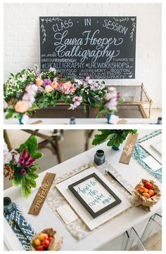 laura hooper calligraphy workshop - ikat tablecloths - mStarr Events - hello love photography