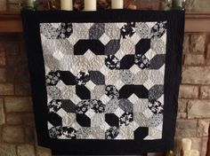 My new black and white in a x pattern