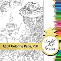 Coloring Page Printable Adult Coloring Pages by DigitalArtDreams