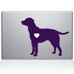 Amazon.com: Labrador Retriever Love Silhouette Vinyl Decal Sticker Skin for Apple Retina Macbook Air 13 inch Unibody Laptop in La...: Computers & Accessories
