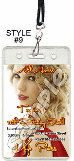 Taylor swift vip passes with lanyards taylor swift birthday taylor swift vip passes with lanyards taylor swift birthday invitations and party supplies pinterest vip pass and taylor swift birthday filmwisefo