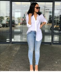 Day to day looks smart casual women jeans, classy winter outfits, classy casual, Casual Chic Outfits, Classy Casual, Trendy Outfits, Formal Outfits, Casual Wear, Denim Fashion, Look Fashion, Fashion Outfits, Casual Women's Fashion