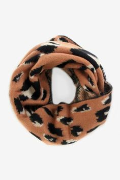 Graphic Leopard Scarf  $36