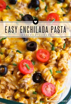 Easy Enchilada Pasta